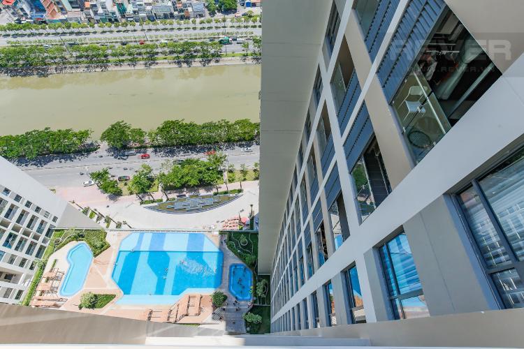 View Căn hộ The Gold View 2 phòng ngủ tầng cao A2 hướng Tây Bắc