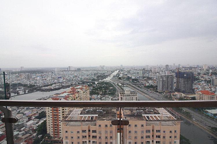view căn hộ THE GOLD VIEW Bán căn hộ The Gold View 2PN, tầng cao, đầy đủ nội thất, view thành phố