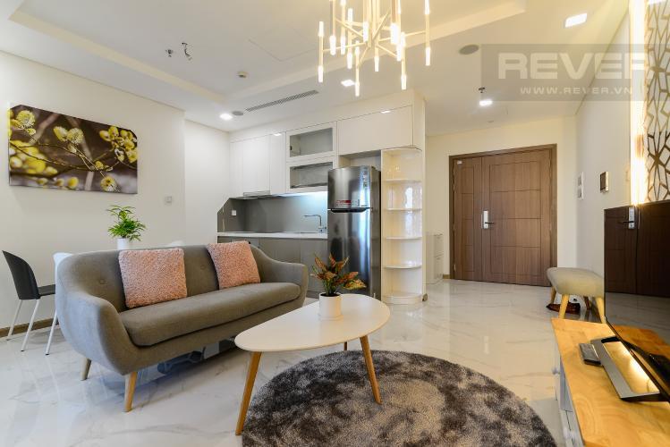 Phòng Khách Cho thuê căn hộ Vinhomes Central Park 48m2, nội thất hạng sang, view thành phố