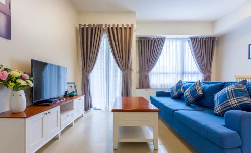 Căn hộ  Masteri Thảo Điền 2 phòng ngủ tầng thấp tháp T1 đầy đủ tiện nghi