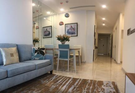 Cho thuê căn hộ officetel Vinhomes Golden River 2PN, đầy đủ nội thất, view sông và bán đảo Thủ Thiêm