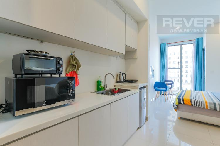 Phòng Bếp Bán căn hộ The Tresor 1PN 1WC, đầy đủ nội thất, view hồ bơi