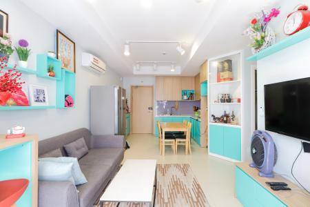 Cho thuê căn hộ M-One Nam Sài Gòn 2PN, tháp T1, đầy đủ nội thất, hướng ban công Đông Nam
