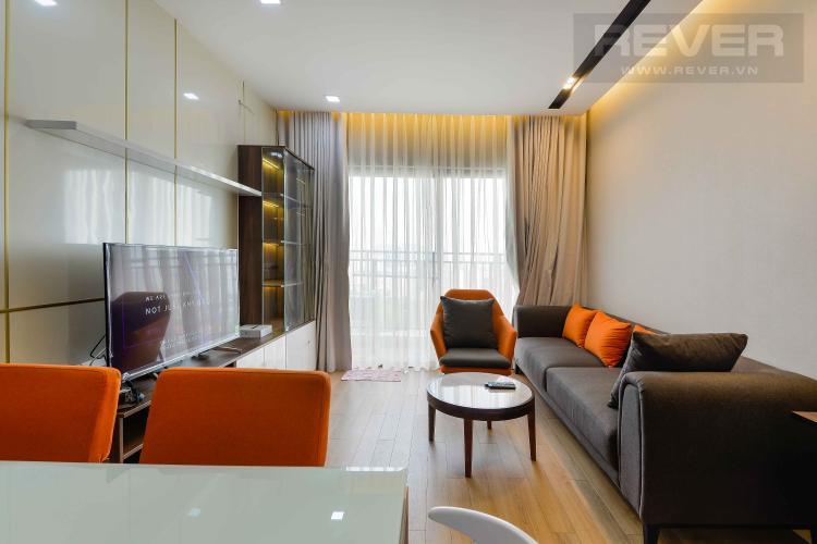 Phòng Khách Cho thuê căn hộ The Sun Avenue 3PN, đầy đủ nội thất, view Landmark 81