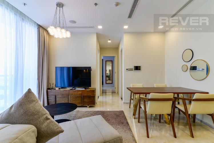 Phòng Khách Căn hộ Vinhomes Golden River 2PN tầng cao, view đẹp, đầy đủ nội thất