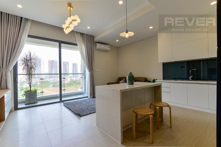 Phòng Khách Cho thuê căn hộ Diamond Island 52,54m2 1PN 1WC, nội thất cao cấp, view sông