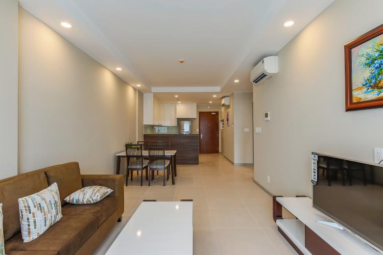 Căn hộ The Gold View 2 phòng ngủ tầng cao A2 view hồ bơi