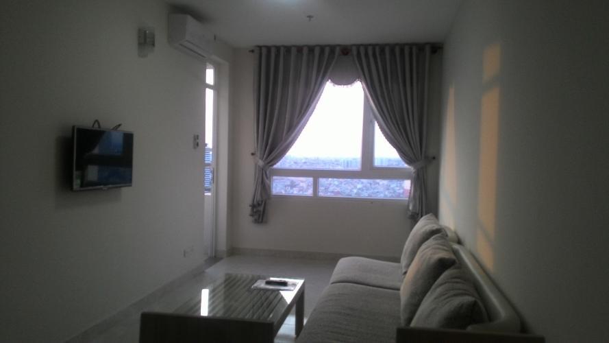 Phòng khách Riverside 90, Bình Thạnh Căn hộ Riverside 90 tầng cao, view thành phố tuyệt đẹp.