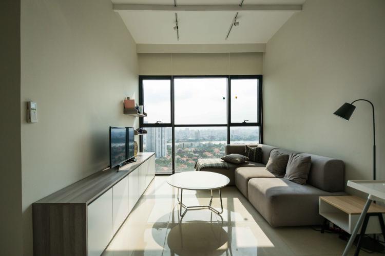 Phòng Khách Cho thuê căn hộ The Ascent tầng cao 2PN, nội thất đầy đủ, view Landmark 81
