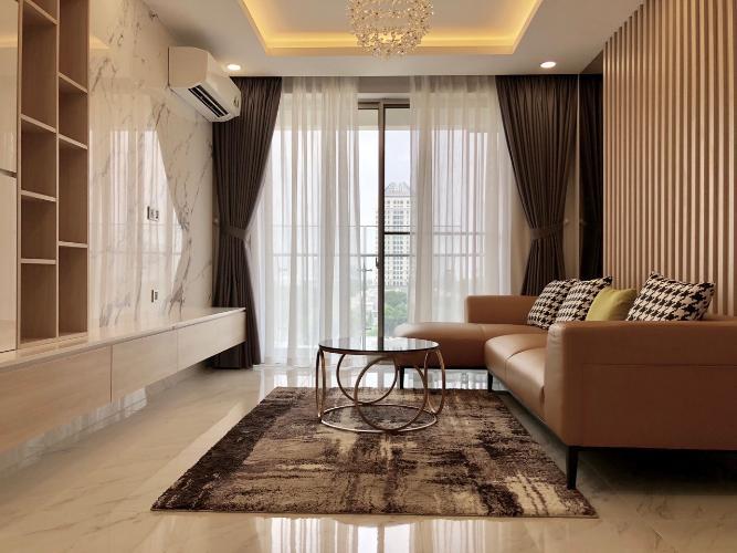Phòng khách căn hộ Phú Mỹ Hưng Midtown Cho thuê căn hộ Phú Mỹ Hưng Midtown tầng trung, ban công thoáng mát.