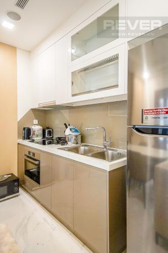 Nhà Bếp Cho thuê căn hộ Vinhomes Central Park 1PN, diện tích 54m2, đầy đủ nội thất, view thành phố và sông Sài Gòn