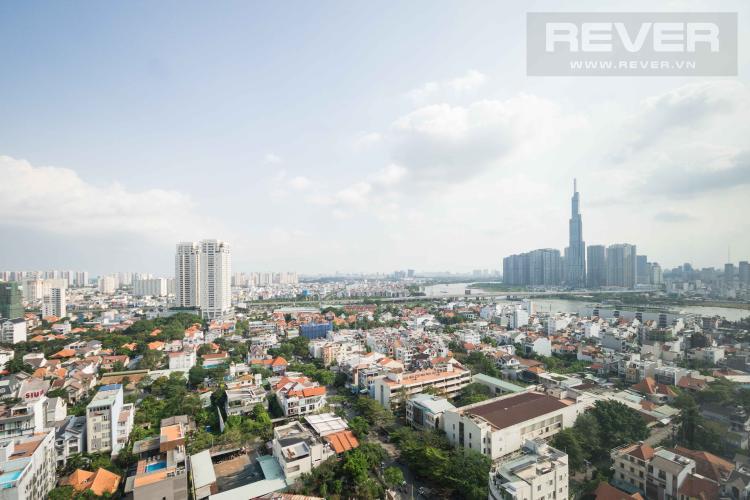 View Cho thuê căn hộ The Ascent tầng cao 2PN, nội thất đầy đủ, view Landmark 81