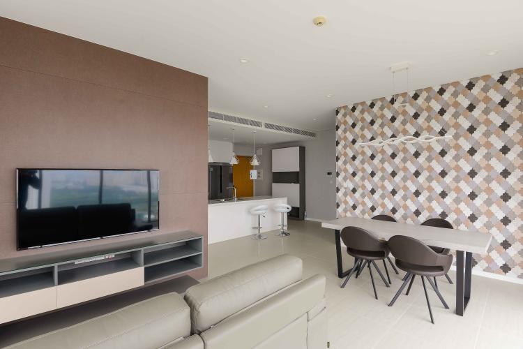 Phòng Khách Cho thuê căn hộ Diamond Island - Đảo Kim Cương 3PN, tháp Bahamas, đầy đủ nội thất, view sông