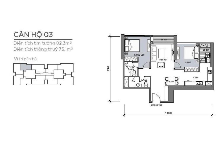 Căn hộ 2 phòng ngủ Căn hộ Vinhomes Central Park 2 phòng ngủ tầng thấp Park 4