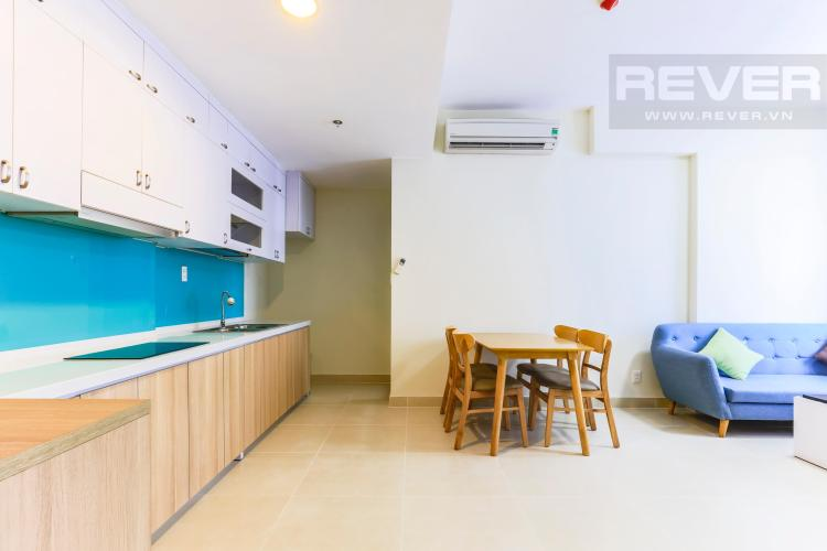 Không gian mở ở khu vực bếp Căn hộ Masteri Thảo Điền tầng cao T4B 2 phòng ngủ nội thất đầy đủ