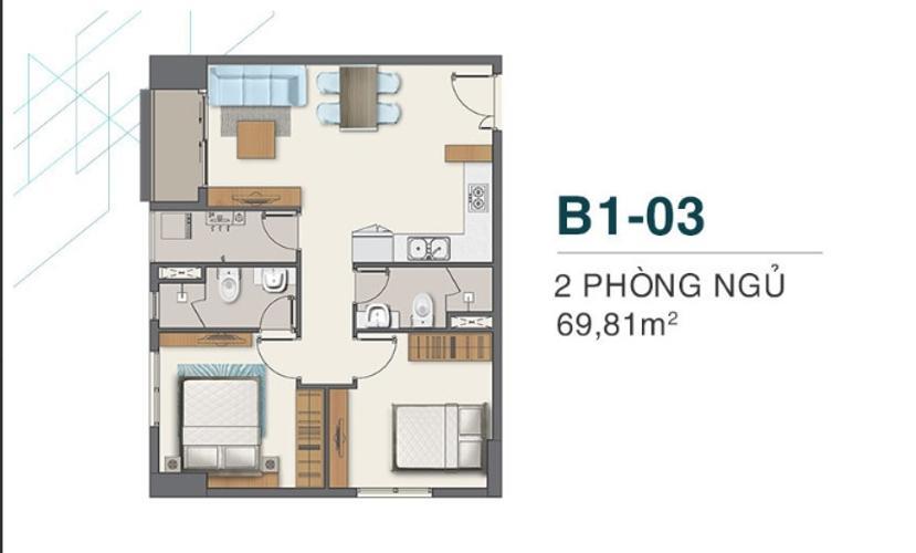 Bán căn hộ view Bình Chánh - Q7 Boulevard, 2 phòng ngủ, diện tích 69.8m2, nội thất cơ bản