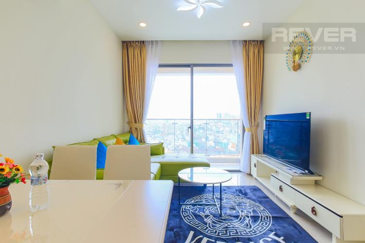 Phòng Khách Cho thuê căn hộ Masteri Millennium tầng trung, đầy đủ nội thất, 2PN