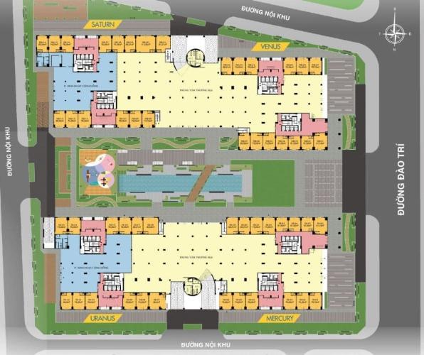 mặt bằng shophouse q7 saigon Riverside Shophouse Q7 Saigon Riverside tầng thương mại, hướng Nam.
