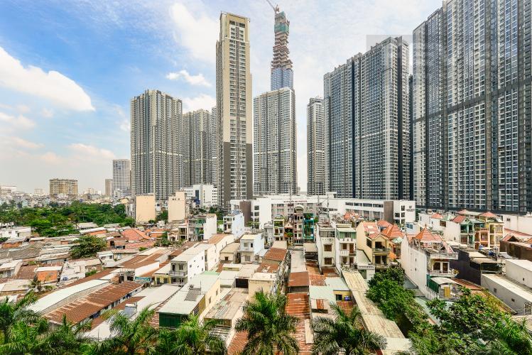 View Căn hộ Saigon Pearl 2 phòng ngủ tầng thấp Topaz 2 nội thất đầy đủ