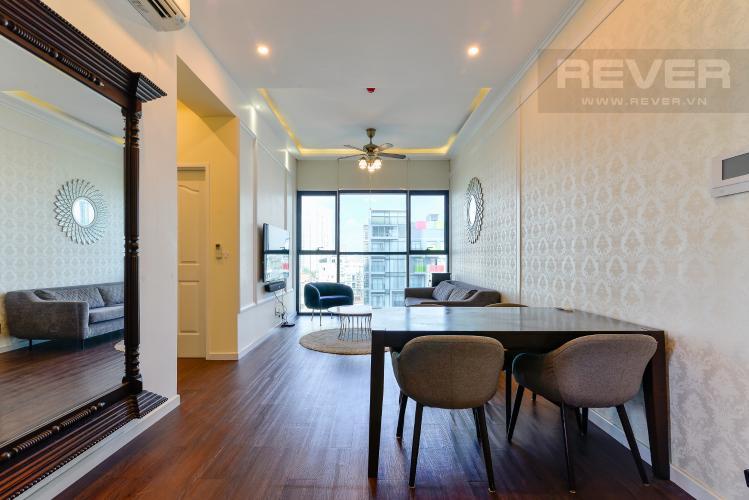 Phòng Khách Bán hoặc cho thuê căn hộ The Ascent 2PN, đầy đủ nội thất, view Landmark 81