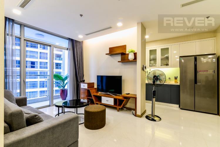 Phòng Khách Bán căn hộ Vinhomes Central Park tháp Park 2 tầng trung, 2 PN và 2WC, đầy đủ nội thất