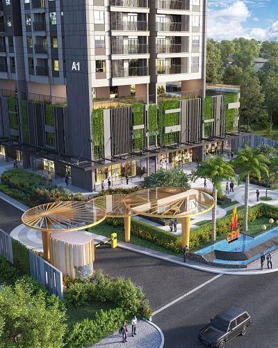 Opal Boulevard Căn hộ Opal Boulevard ban công hướng Đông Nam, nội thất cơ bản.