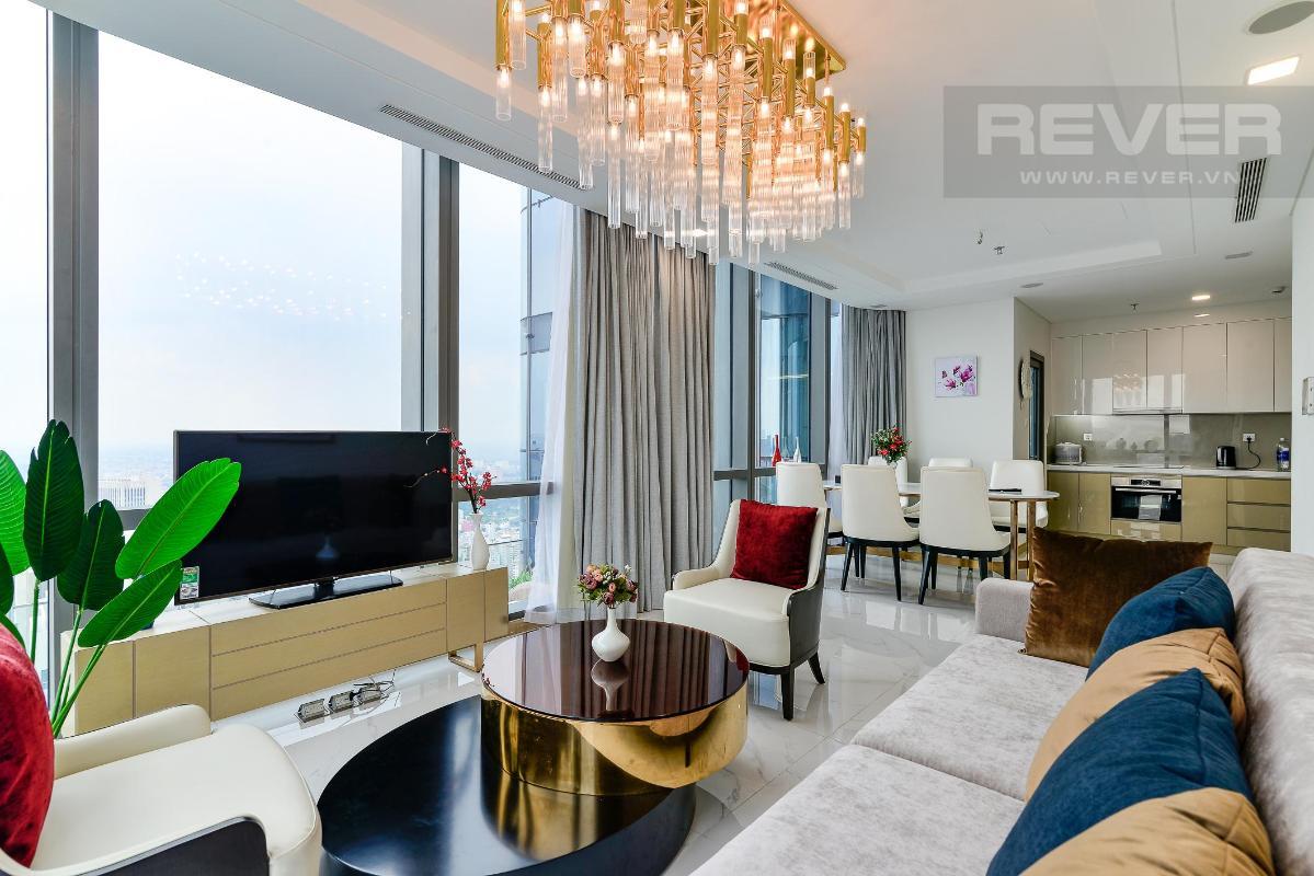 Phòng Khách 3 Bán hoặc cho thuê căn hộ Vinhomes Central Park 4PN, tháp Landmark 81, diện tích 164m2, đầy đủ nội thất, căn góc view thoáng