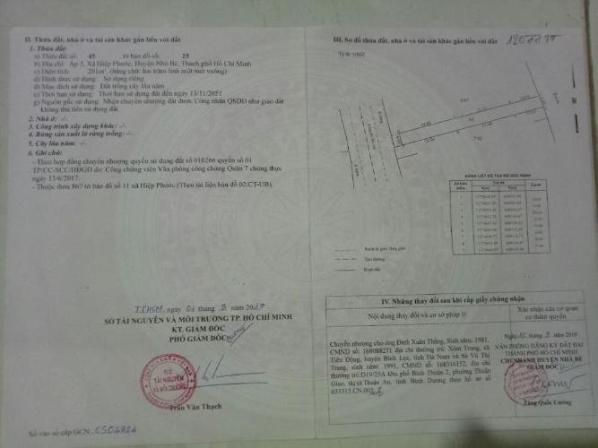 Bán đất mặt tiền Nguyễn Văn Tạo, Hiệp Phước, Nhà Bè, diện tích 8x50m, có 131m2 thổ cư