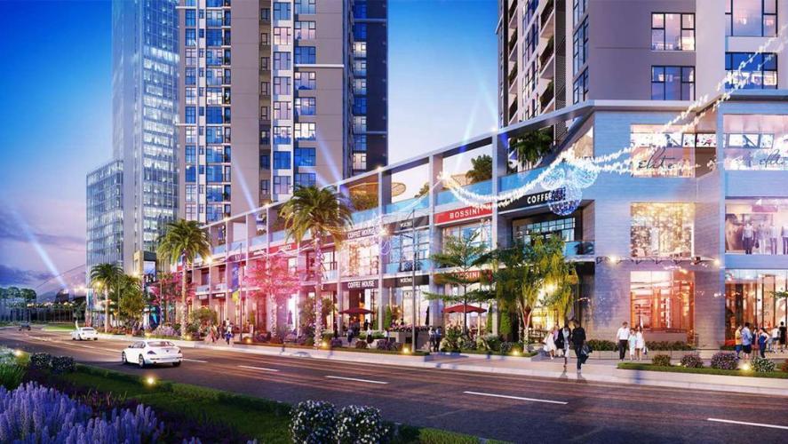 Mặt tiền Shop House Q7 Sài Gòn Riverside Shophouse Q7 Saigon Riverside tầng thương mại, view nội khu.