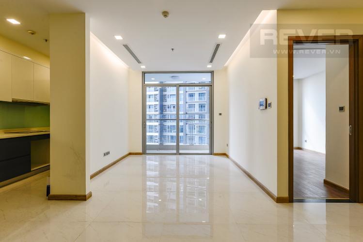 Phòng khách Căn hộ Vinhomes Central Park 2 phòng ngủ tầng thấp P3 view hồ bơi