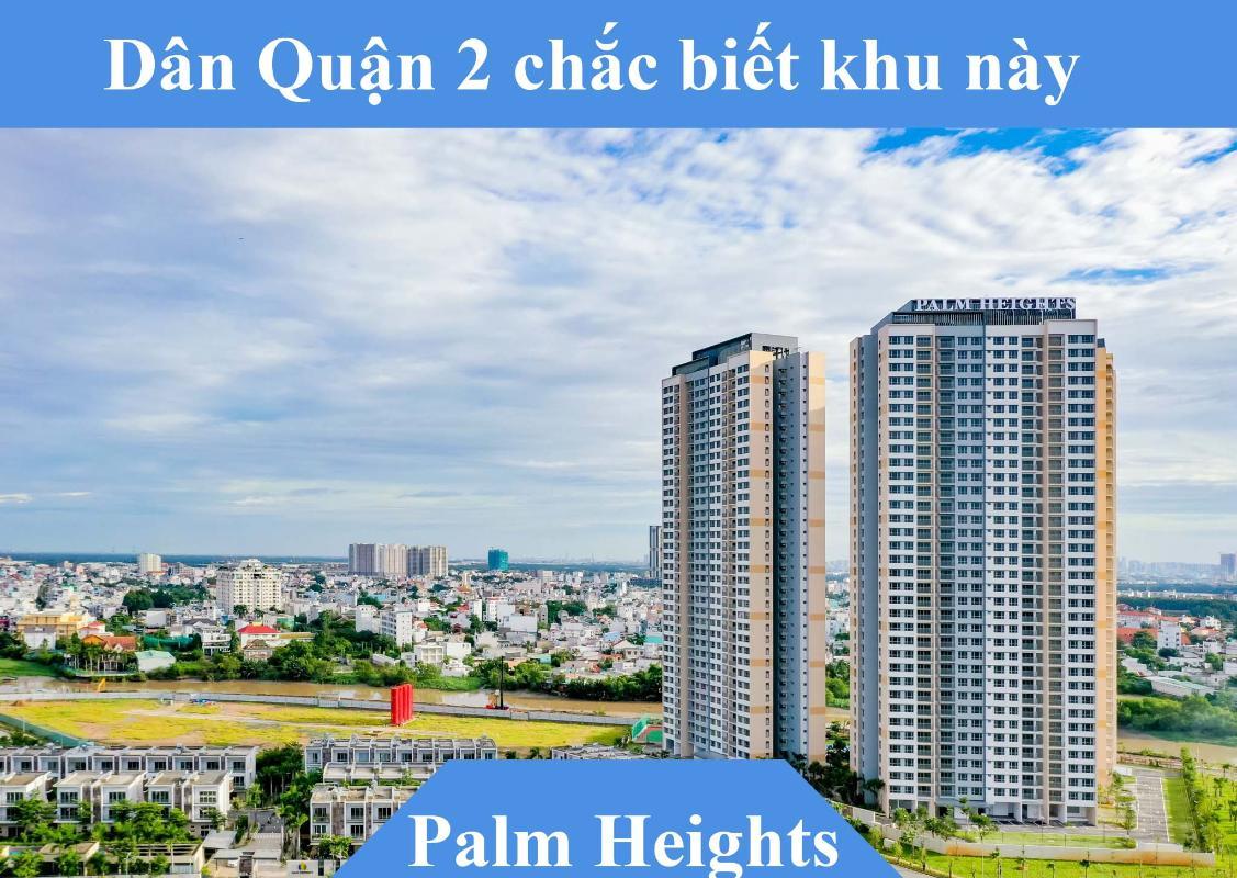 Palm Heights Bán căn hộ Palm Heights 2 phòng ngủ, tầng trung, tháp 1, bàn giao thô, view nội khu và sông Giồng Ông Tố