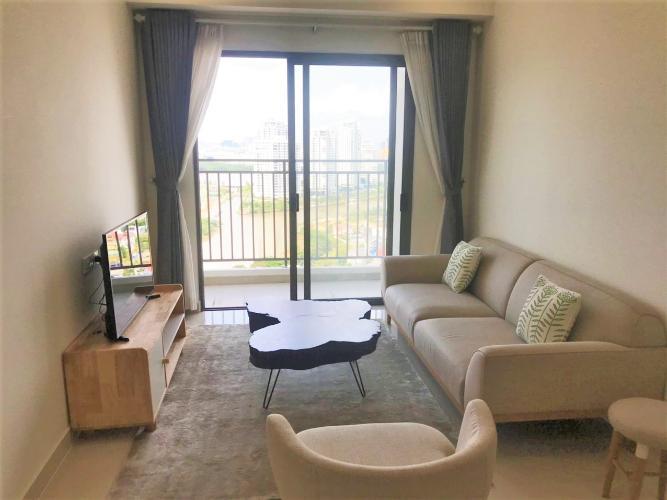 Phòng khách Bán căn hộ The Sun Avenue 1PN, tầng cao, không nội thất, view Thạnh Mỹ Lợi
