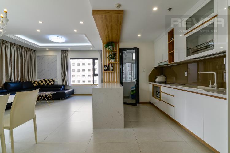 Phòng Khách Cho thuê căn hộ New City Thủ Thiêm tầng thấp tháp Babylon, 3PN 2WC, đầy đủ nội thất, view cây xanh mát mẻ