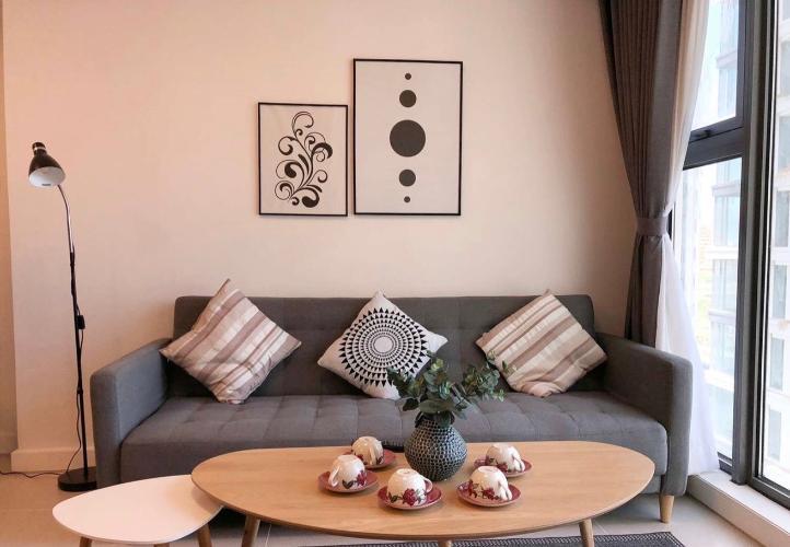 phòng khách căn hộ Gateway Thảo Điền Căn hộ Gateway Thảo Điền đầy đủ nội thất tinh tế, view thành phố.