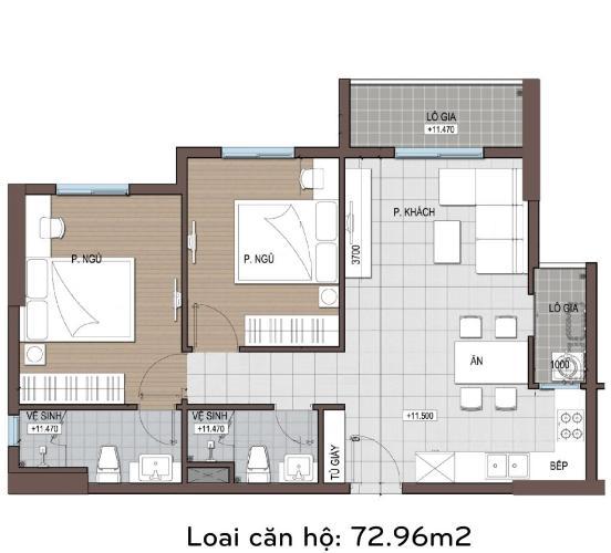 Căn hộ Conic Riverside tầng trung, nội thất cơ bản tiện nghi.