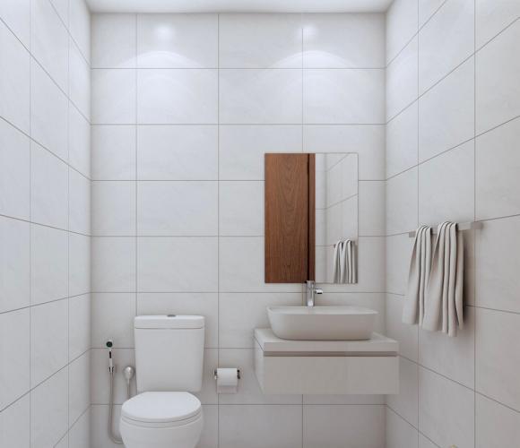 nhà vệ sinh căn hộ Bcons miền Đông Căn hộ Bcons Miền Đông nội thất bàn giao cơ bản, view mát mẻ