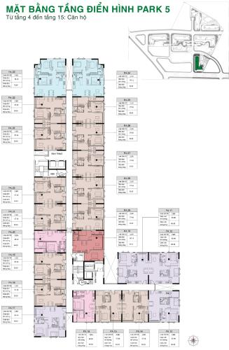 Dự án Picity Bán căn hộ Picity High Park tầng trung, 2 phòng ngủ, diện tích 57.6m2, nội thất cơ bản