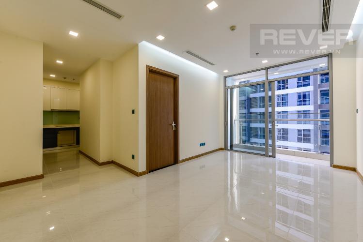 Phòng khách Căn hộ Vinhomes Central Park 2 phòng ngủ tầng cao P4 view sông