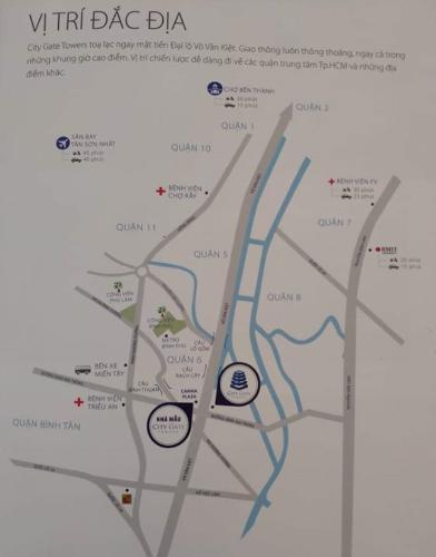 Vị trí City Gate, Quận 8 Căn hộ City Gate tầng cao, view nội khu hồ bơi thoáng đãng.