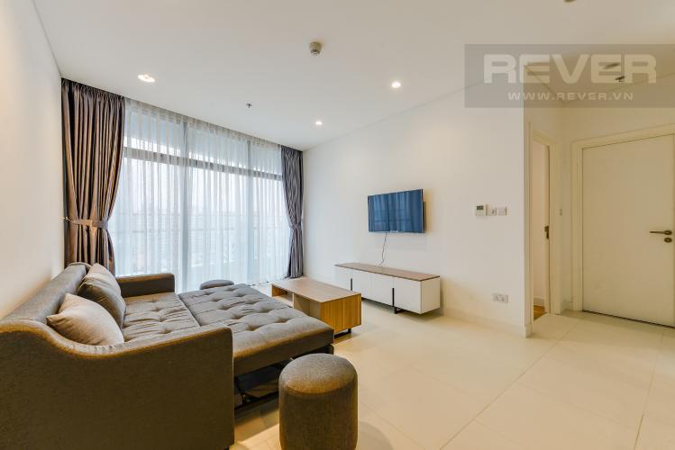 Phòng khách Cho thuê căn hộ City Garden tầng trung, 1PN, đầy đủ nội thất