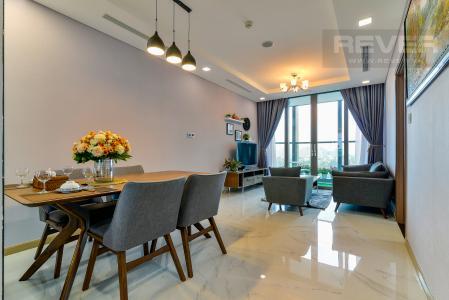Cho thuê căn hộ Vinhomes Central Park tầng cao, 2PN với hệ thống nội thất tiện nghi, sang trọng