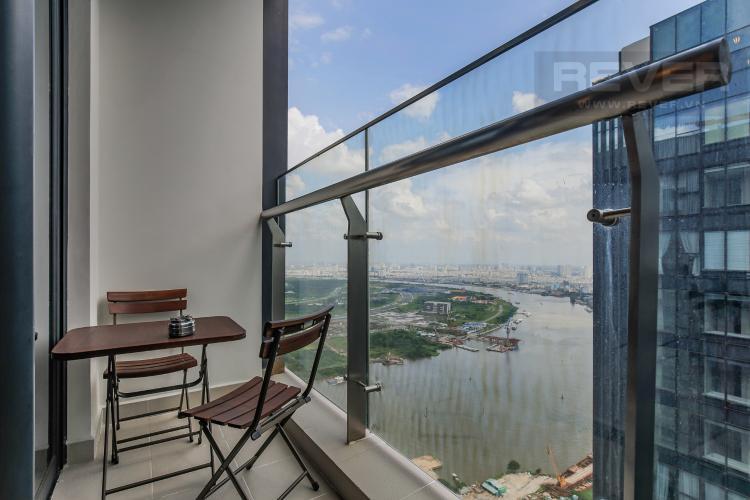 Balcony Cho thuê căn hộ Vinhomes Golden River 2PN, tầng cao, đầy đủ nội thất, view sông Sài Gòn