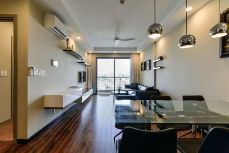 Bán căn hộ The Gold View 2PN, tháp A, đầy đủ nội thất, hướng Đông Bắc, view hồ bơi và kênh Bến Nghé