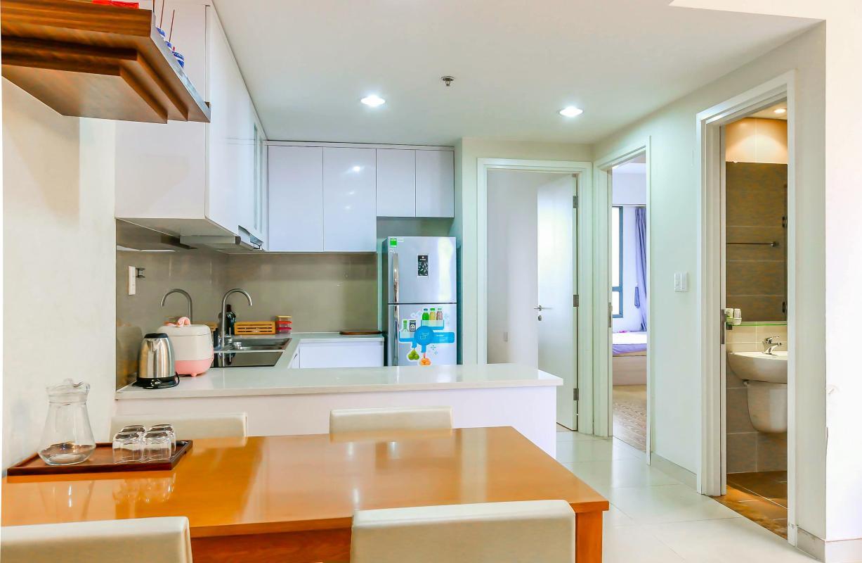 Phòng bếp Bán căn hộ Masteri Thảo Điền 2PN, tháp T2, diện tích 70m2, đầy đủ nội thất, view sông thoáng mát
