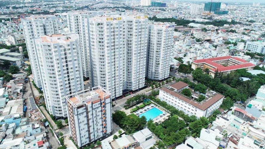 Him Lam Chợ Lớn, Quận 6 Căn hộ Him Lam Chợ Lớn hướng Đông Nam, view thành phố tầng cao.