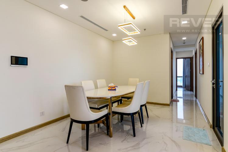 Phòng Ăn Căn hộ Vinhomes Central Park tháp Landmark 81, 4PN 2WC, nội thất đầy đủ