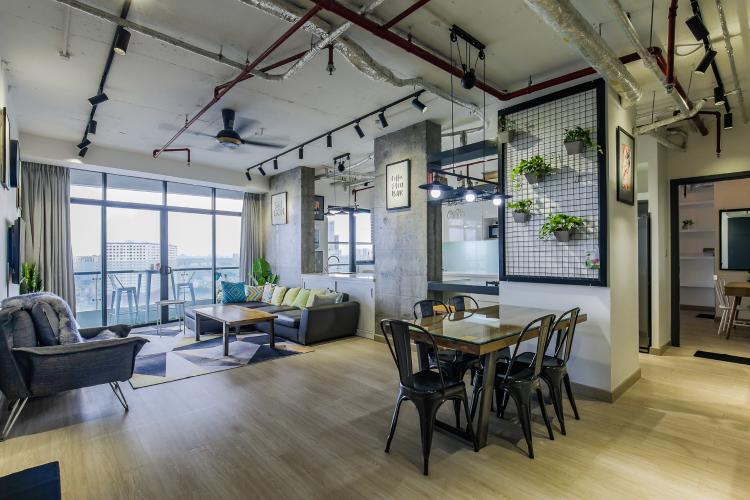 Bán căn hộ City Garden 2 phòng ngủ diện tích lớn, đầy đủ nội thất, view Landmark 81
