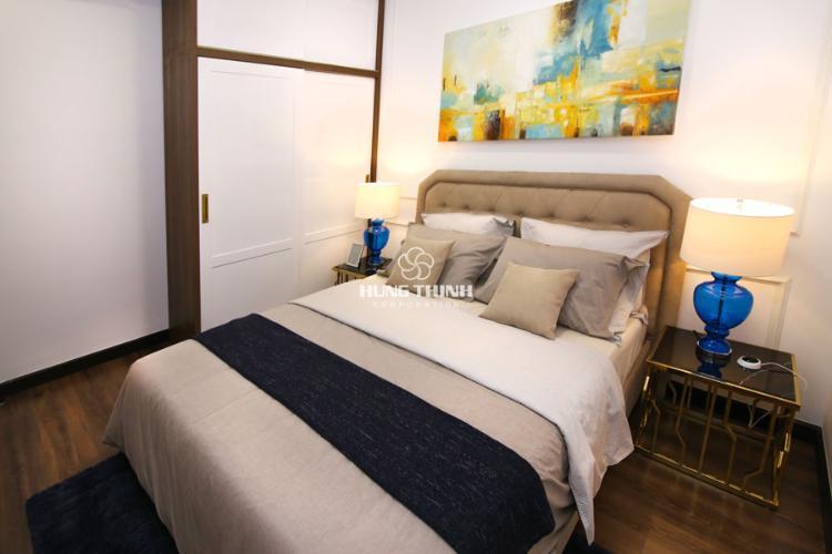 Nội thất phòng ngủ master Q7 Sài Gòn Riverside Căn hộ tầng cao Q7 Saigon Riverside, ban công hướng Đông Bắc.