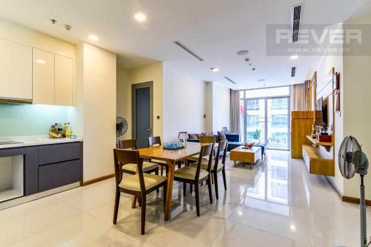 Phòng Khách Căn hộ Vinhomes Central Park 3 phòng ngủ tầng cao P6 nội thất đẹp