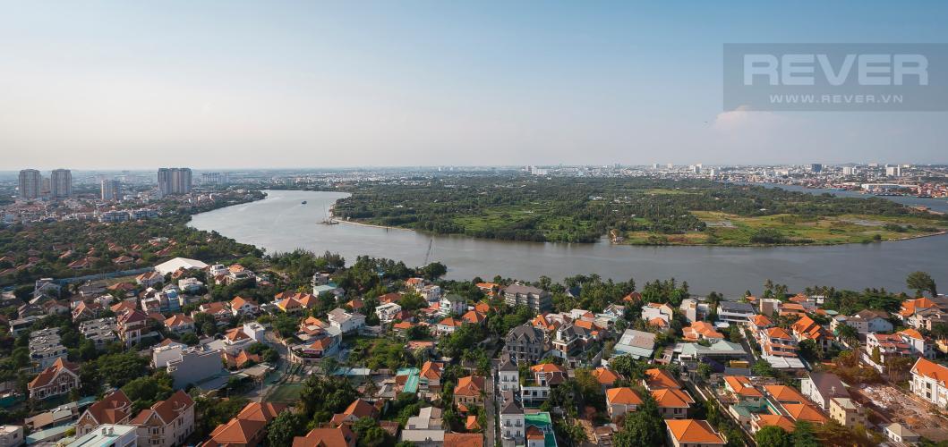 View Căn hộ Masteri Thảo Điền 3 phòng ngủ tầng cao T4 view sông